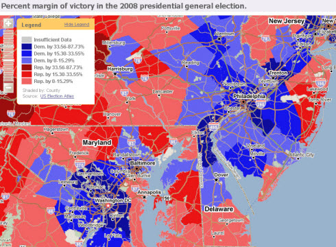 Election Data - Margin if Victory